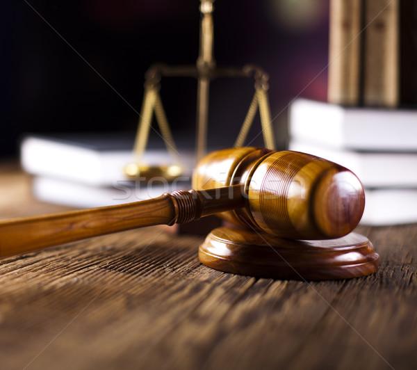 Legge giustizia legno martelletto avvocato giudice Foto d'archivio © JanPietruszka