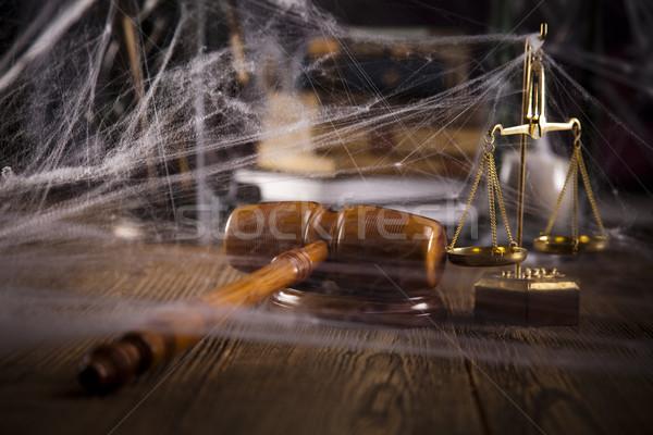 Droit justice bois marteau avocat juge Photo stock © JanPietruszka