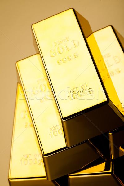 Or valeur financière argent métal banque Photo stock © JanPietruszka