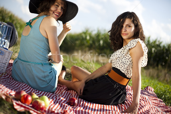 Stock photo: Girls, summer free time spending