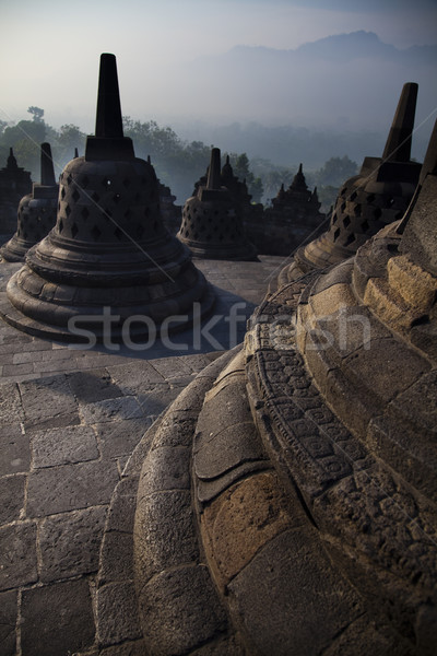 Borobudur Temple, Indonesia, bright colorful vivid theme Stock photo © JanPietruszka
