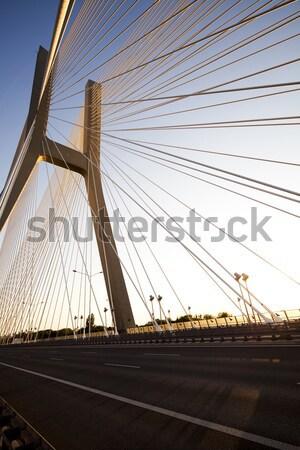 Híd tájékozódási pont kilátás égbolt épület építkezés Stock fotó © JanPietruszka