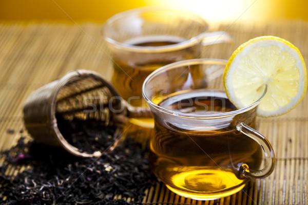 Hot tea, bright colorful vivid theme Stock photo © JanPietruszka