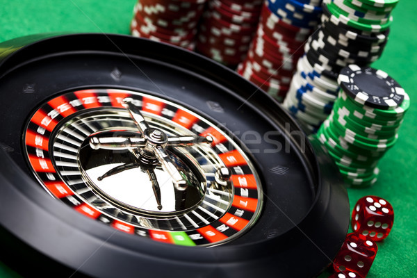 Casino Roulette, ambient light saturated theme Stock photo © JanPietruszka