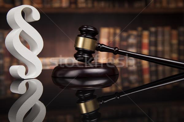 Giudice giustizia comma specchio indietro legge Foto d'archivio © JanPietruszka