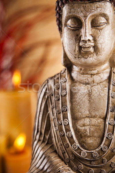 Buddha with candle Stock photo © JanPietruszka