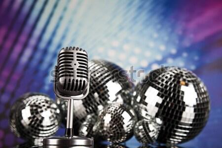 Zene mikrofon diszkó kő dzsessz klasszikus Stock fotó © JanPietruszka