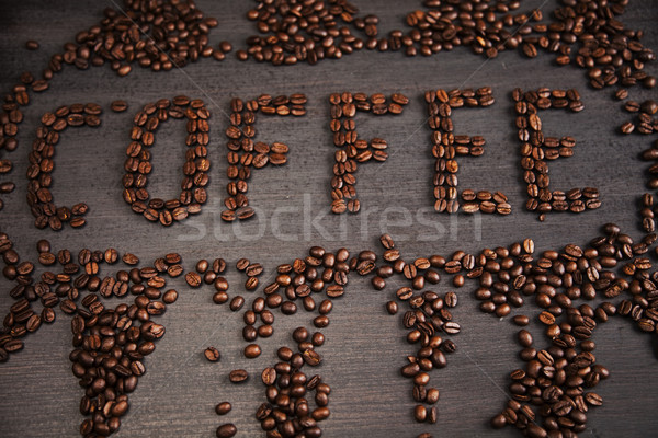 Kafein canlı parlak doku gıda çerçeve Stok fotoğraf © JanPietruszka