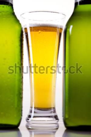 Piwa kolekcja jasne wibrujący alkoholu strony Zdjęcia stock © JanPietruszka