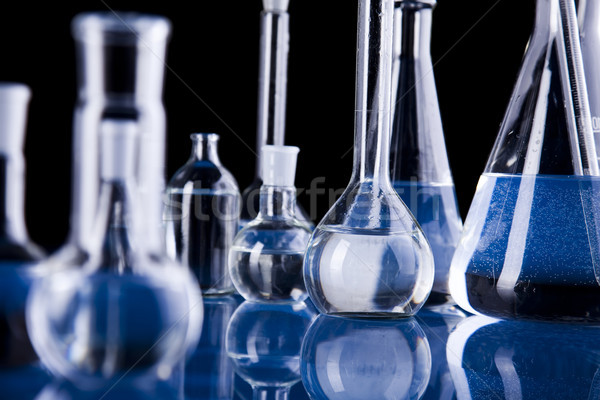 Glass in laboratory, bright modern chemical concept Stock photo © JanPietruszka