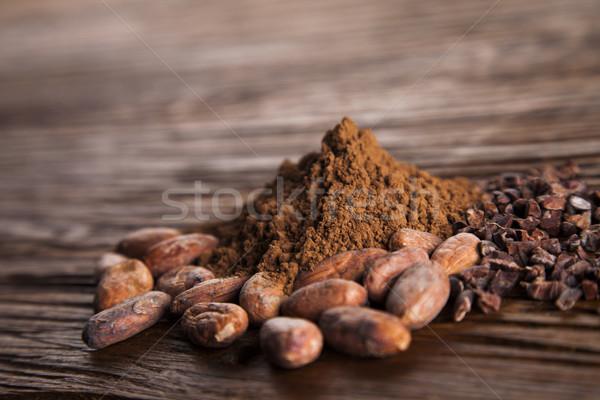 Aromatic cocoa, powder and food dessert background   Stock photo © JanPietruszka