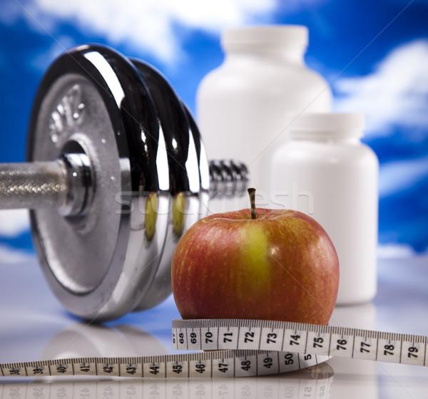 Sport fitnessz kiegészítő egészség gyógyszer izom Stock fotó © JanPietruszka
