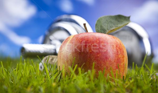 Fitness witaminy zdrowia energii tłuszczu taśmy Zdjęcia stock © JanPietruszka