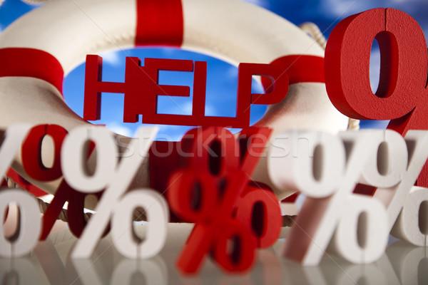 Pomoc finansów kryzys ceny arrow wsparcia Zdjęcia stock © JanPietruszka