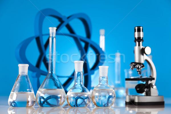 研究 化学 式 薬 科学 ボトル ストックフォト © JanPietruszka