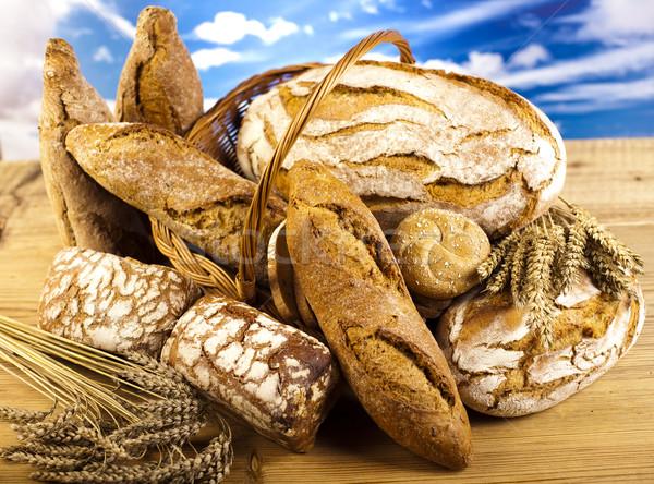 Stok fotoğraf: Geleneksel · ekmek · doğal · renkli · gıda · doğa