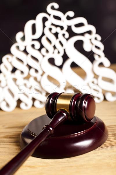 段落 法 正義 木製 小槌 木材 ストックフォト © JanPietruszka