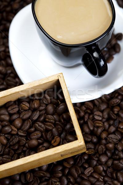 Stock fotó: Csésze · bab · kávé · fehér · textúra · étel