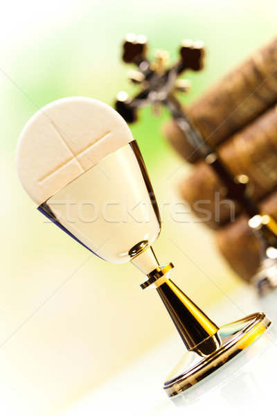 Szent úrvacsora fényes Jézus kenyér Biblia Stock fotó © JanPietruszka