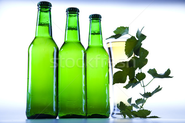 Beer bottle, bright vibrant alcohol theme Stock photo © JanPietruszka