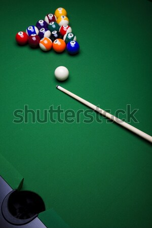 Billiard ball, vivid colors, natural tone Stock photo © JanPietruszka