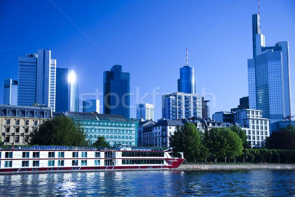 Skyline Франкфурт ярко красочный бизнеса служба Сток-фото © JanPietruszka