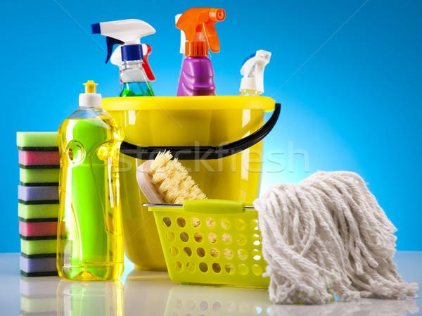Casa limpeza produto trabalhar casa garrafa Foto stock © JanPietruszka