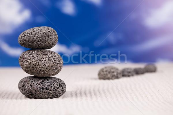 バランスのとれた 禅 石 グループ 岩 リラックス ストックフォト © JanPietruszka