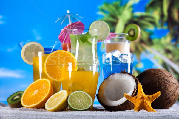 Foto stock: Cocktails · álcool · bebidas · conjunto · naturalismo · colorido