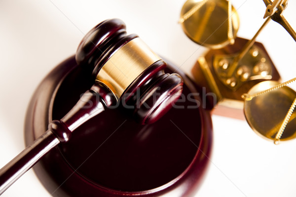 молоток суд пункт знак древесины правосудия Сток-фото © JanPietruszka