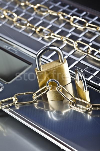 безопасности современных сеть бизнеса ноутбука Сток-фото © JanPietruszka