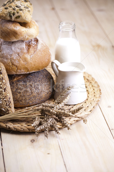 Organik gıda sağlıklı kırsal gıda ekmek akşam yemeği Stok fotoğraf © JanPietruszka