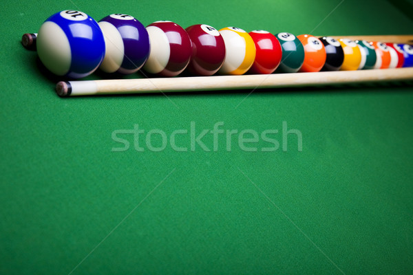 Snooker player, vivid colors, natural tone Stock photo © JanPietruszka