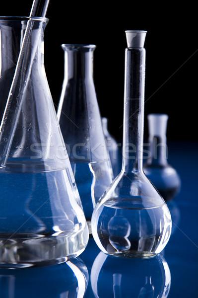 Kémia fényes modern vegyi üveg tudomány Stock fotó © JanPietruszka