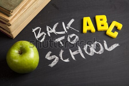 Back to school, colorful bright concept of education Stock photo © JanPietruszka