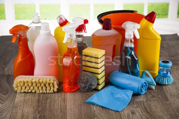 Finestra gruppo pulizia home sfondo Foto d'archivio © JanPietruszka
