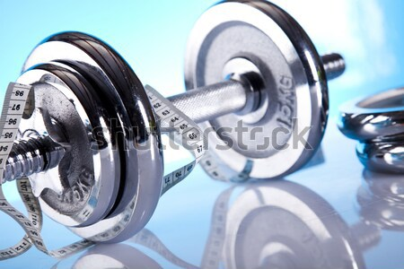 Fitness, dumbell   Stock photo © JanPietruszka