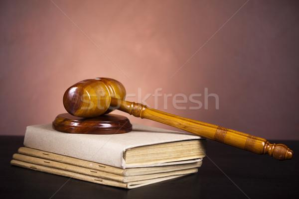 Martillo ley justicia estudio madera Foto stock © JanPietruszka