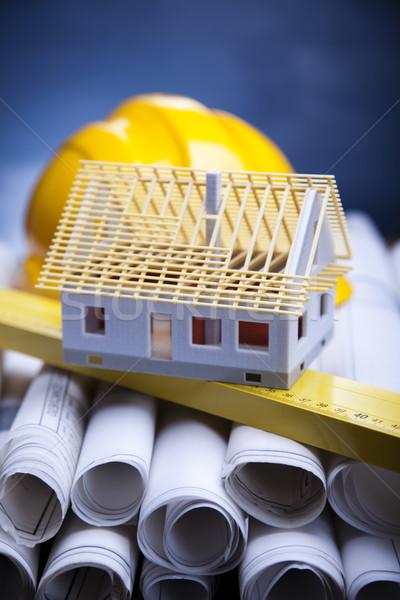 House blueprints close up Stock photo © JanPietruszka