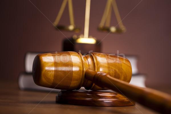 Judges wooden gavel Stock photo © JanPietruszka