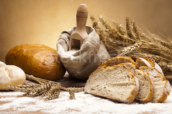 Harina tradicional pan alimentos fondo cena Foto stock © JanPietruszka