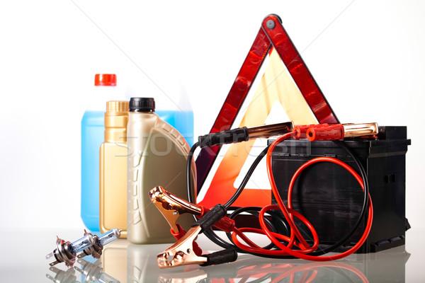 Auto batterij levendig moto Rood energie Stockfoto © JanPietruszka