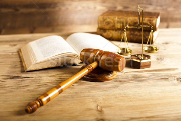 Paragraph, law and justice concept, wooden gavel Stock photo © JanPietruszka