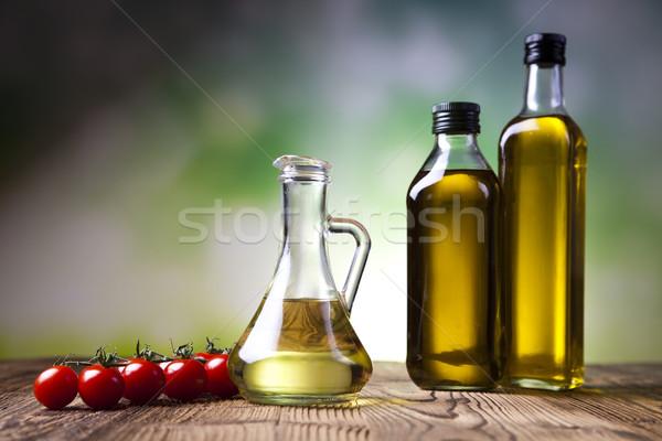 Olijfolie olijven middellandse zee landelijk blad glas Stockfoto © JanPietruszka