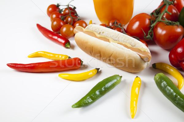 Isolato hot dog luminoso colorato sfondo Foto d'archivio © JanPietruszka