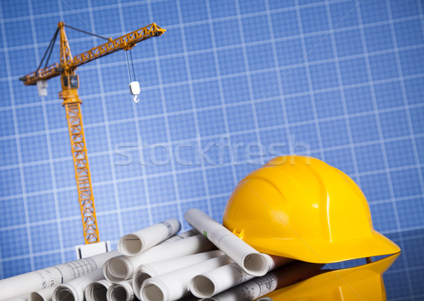 Architectural with Construction site and crane Stock photo © JanPietruszka