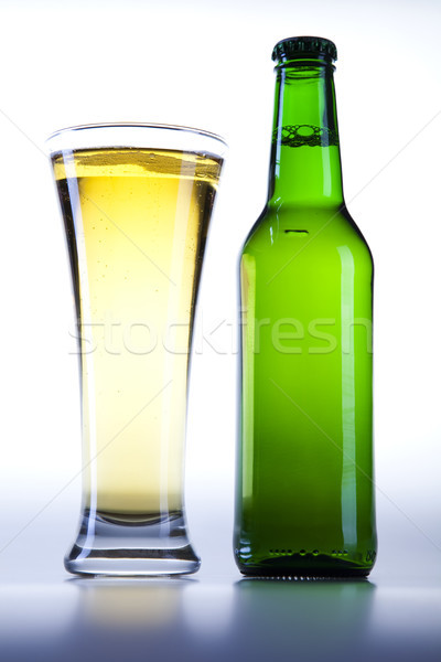 Beer collection, bright vibrant alcohol theme Stock photo © JanPietruszka