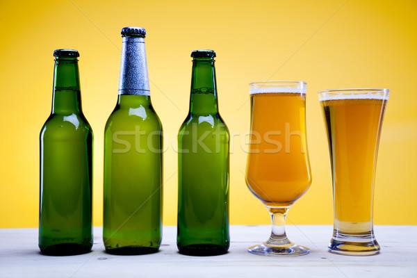ビール 明るい 活気のある アルコール パーティ 表 ストックフォト © JanPietruszka