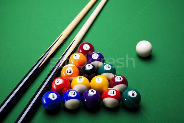Stock fotó: Közelkép · lövés · medence · labda · sport · háttér