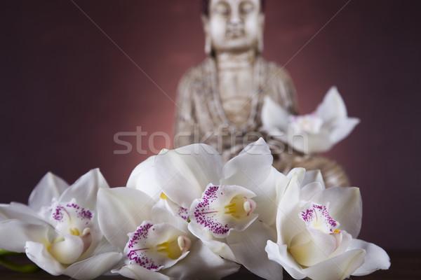 Buda estátua meditação sol fumar relaxar Foto stock © JanPietruszka